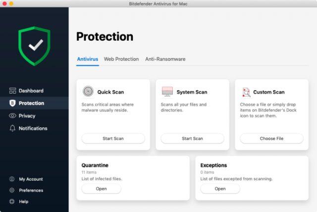 Bitdefender Antivirus für Mac.