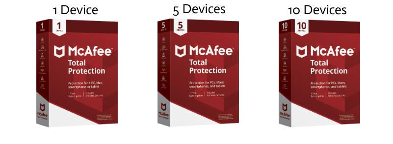 McAfee 1-10 Geräte