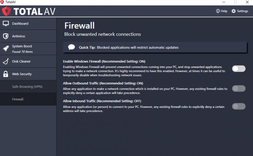 Totalav Antivirus Firewall.