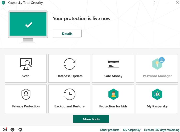 Kaspersky Total Security.