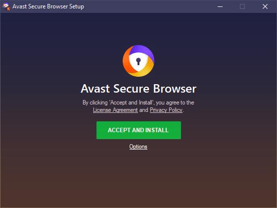 Avast Sichere Browser-Installation - vollständige Rezension