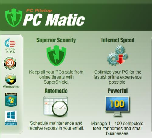 Zusätzliche Eigenschaften von PC Matic Home.