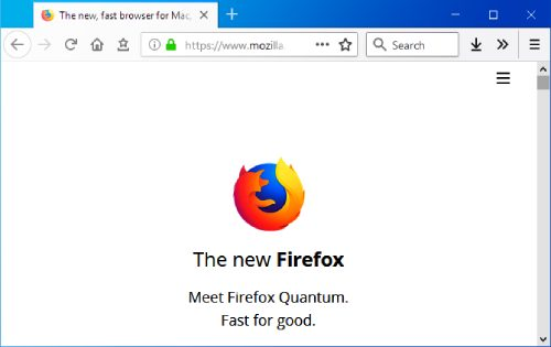 Firefox browser.