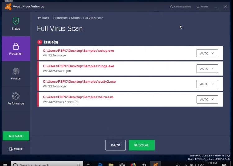 avast Funktionen, Antivirus-Vergleich