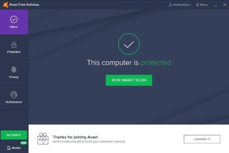 Avast Antivirus-Funktionen.