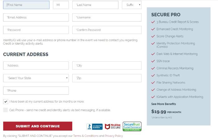 IdentityIQ Secure Pro Anmeldeseite.