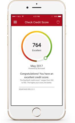 Equifax Mobile Anwendungen.