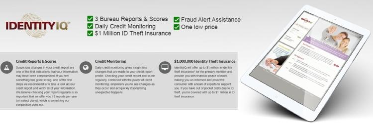 IdentityIQ Identitätsdiebstahlversicherung.
