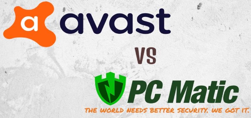 Avast gegenPC Matic Antivirus-Vergleich.