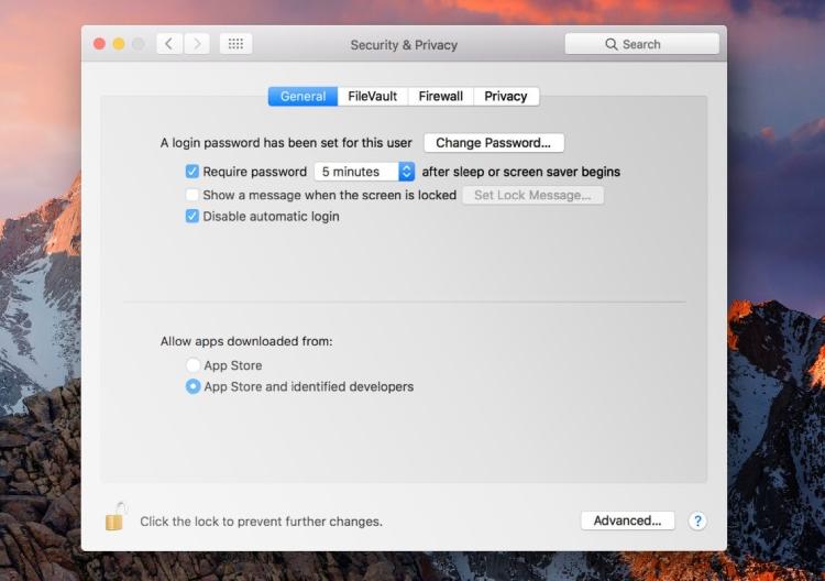 Mac's eingebauter Schutz, Torwächter.