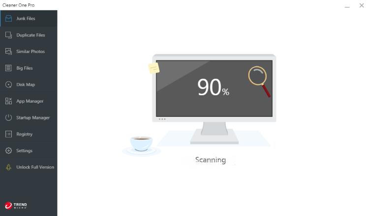 Reinigen Sie einen Pro-Scanin-Bildschirm.