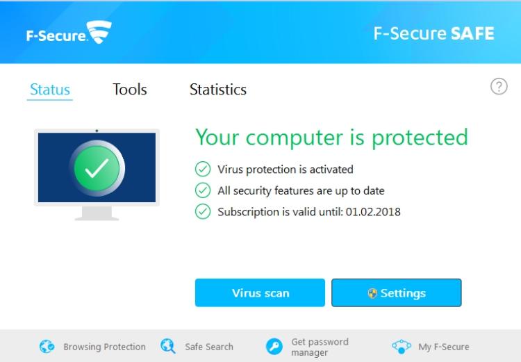 F-Secure Sicherer Virenschutz.